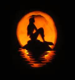 little mermaid pumpkin by stephiet on deviantart