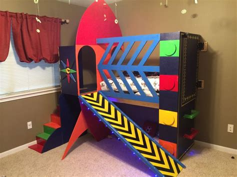 rocket bed rocket ship toddler bed space rocketship theme toddler