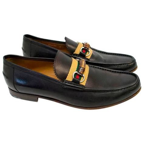 loafers with buckle gucci black leather loafers with bamboo buckle for sale at