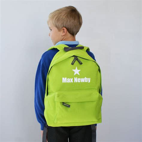 personalised colourful children s backpack by sparks and
