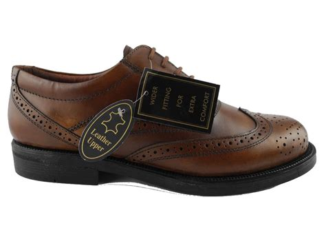 mens boots size 14 wide mens scimitar brown leather lace up brogues shoes wide fit