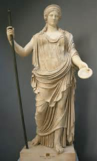 mythology statues hera queen of the gods
