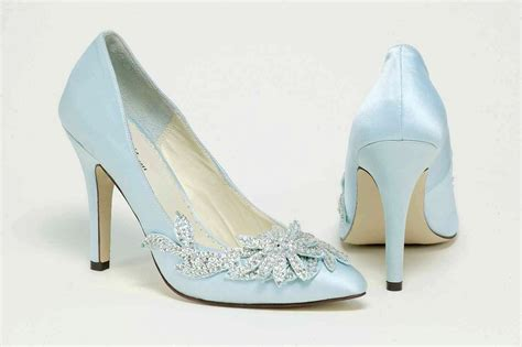 Blue Bridal Shoes by Panache Bridal Shoes Pale Blue