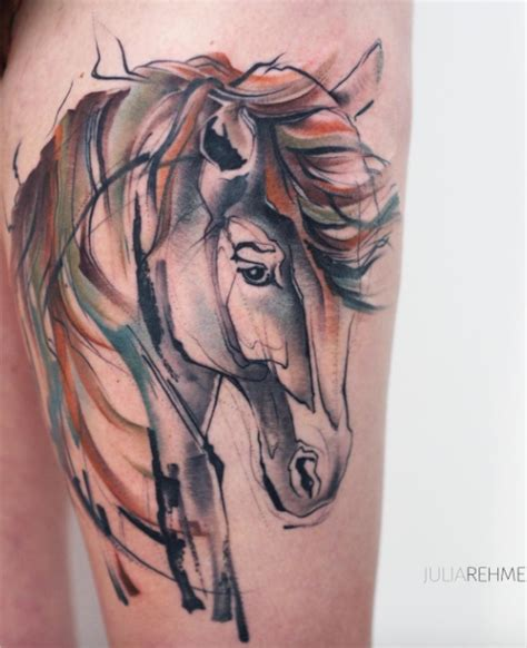 watercolor horse tattoo watercolor inkstylemag
