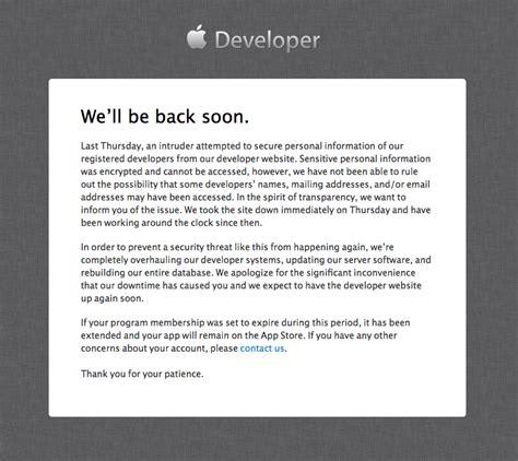 Apple Customer Letter News Apple Confirms An Intruder Hacked Its Developer Site