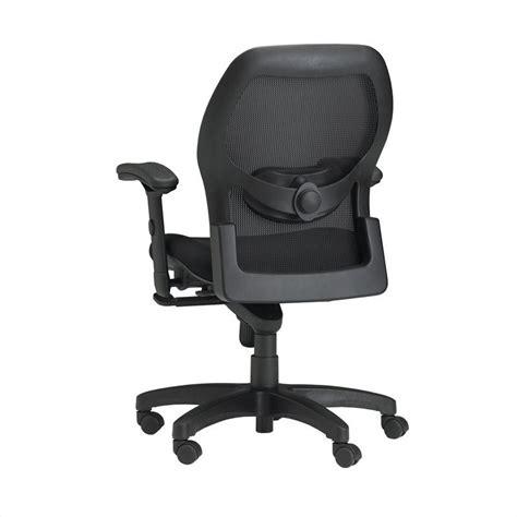 mayline mercado fabric seat with mesh back synchro