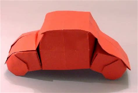 Car Origami 3d - origami car gimeno 3d make easy paper crafts