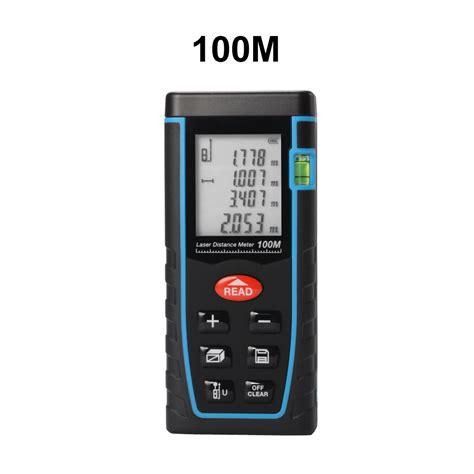 Laser Meter Range 60m Waysear handheld digital laser point distance meter measure range finder 60m 100m ebay