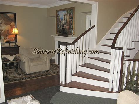 How To Stain Wood Banister This Had Been A White Bleached Staircase