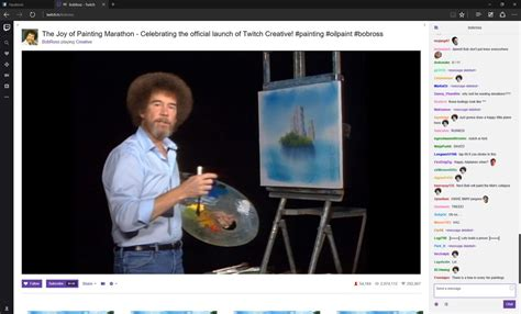 bob ross painting twitch twitch s bob ross marathon is the most beautiful thing the