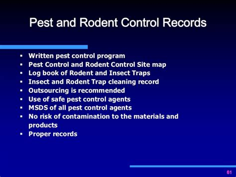pest policy template importance of documentation for gmp compliance