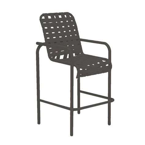 tradewinds outdoor furniture tradewinds lido crossweave contract black patio bar stool hd wc5004m 4 the home depot