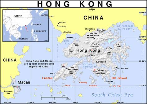 full political map  hong kong hong kong full political