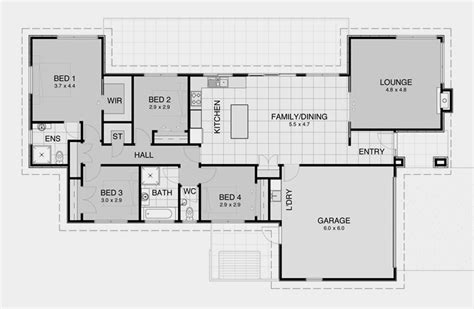 simple open floor house plans impressive simple open house plans 6 simple 3 bedroom