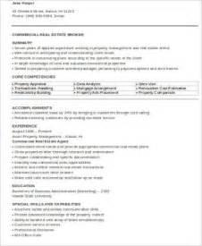 sle real estate resume 9 exles in word pdf