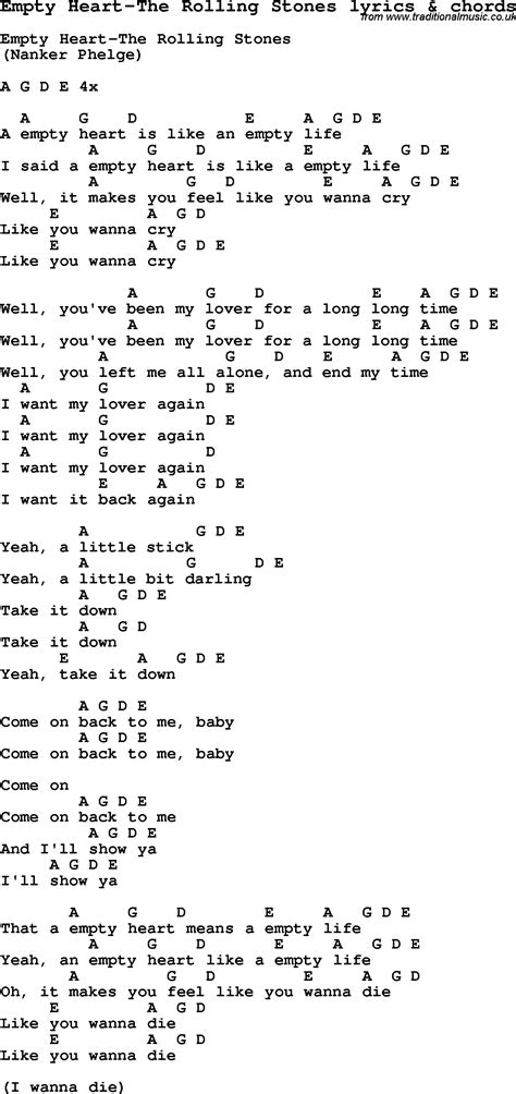stones lyrics song lyrics for empty the rolling stones with