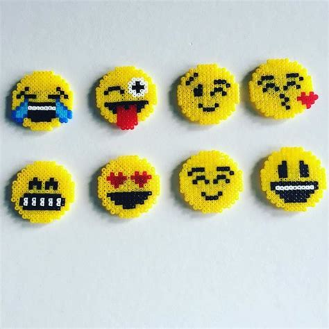melty bead designs emojis hama mini by starups perlerier perler