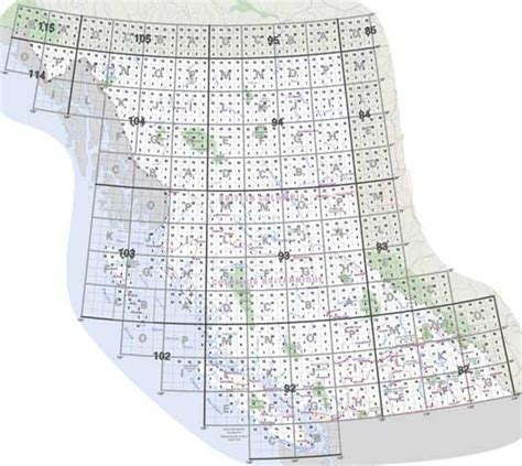 canadian map grid system columbia topo maps nts topographical maps for