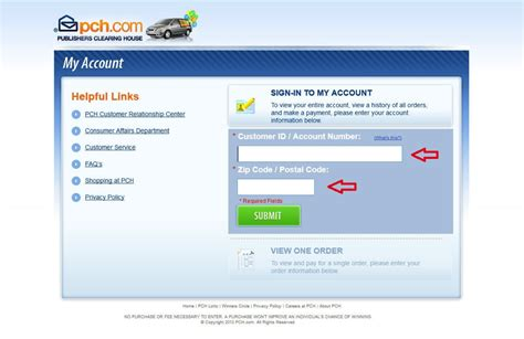 Pch Login Page - image gallery pch account