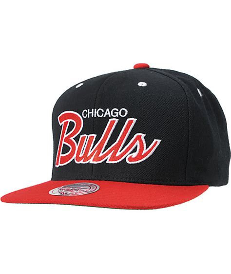 Mitchell And Ness by Nba Mitchell And Ness Chicago Bulls Script Snapback Hat At