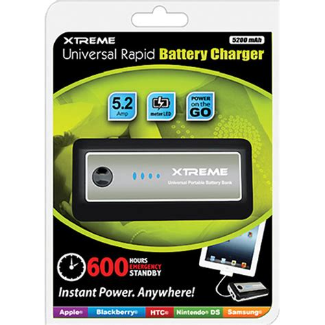 xtreme battery charger xtreme cables 5200mah universal rapid battery charger
