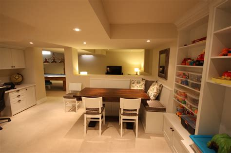 basement play area rooms