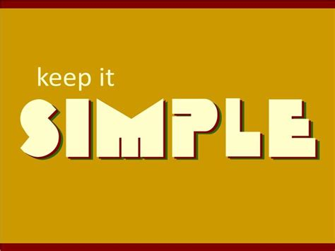 Keeping It Simple by Ronniechristian Keep It Simple
