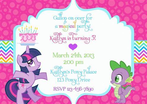 Pony Invitation Card Template by My Pony Birthday Invitation Wording My
