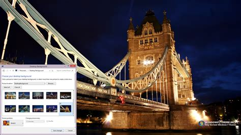 themes of london tower bridge london night view windows 7 theme download
