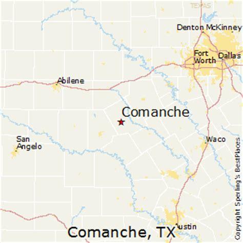 comanche texas map best places to live in comanche texas