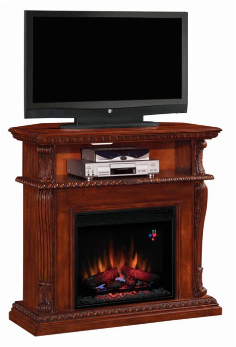 42'' Corinth Vintage Cherry Entertainment Center Wall and