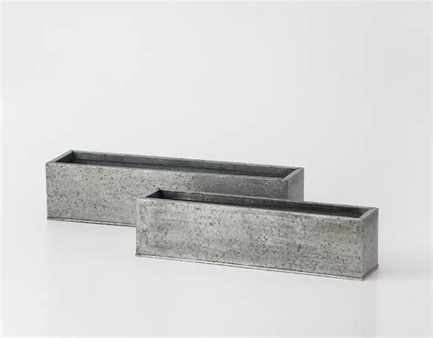 Rectangular Galvanized Planter by 17 Best Images About Concrete Projects On