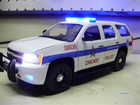 custom 24th scale chevy tahoe chicago police diecast model