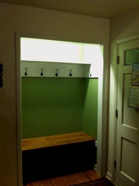 coat mudroom building small closet easy  entryway decor