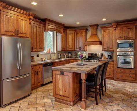 Kitchen Furniture Cabinets Rustic Cherry Kitchen Cabinets Home Furniture Design
