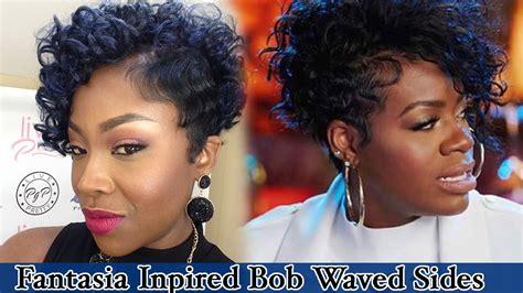 Fantasia Inspired Curly Bob   YouTube
