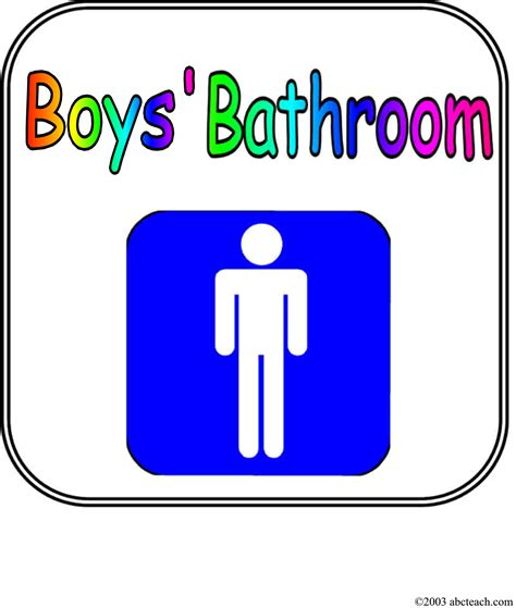 boys bathroom sign bathroom pass printable clipart best