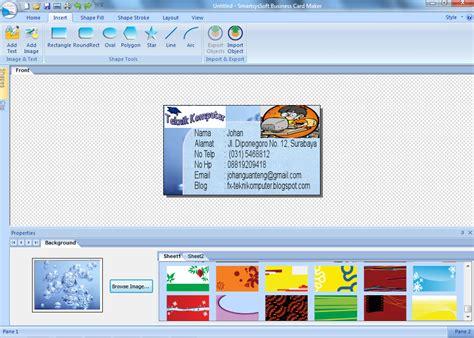 Software Untuk Membuat Kartu Nama Id Card tutorial membuat kartu nama dengan mudah teknik komputer