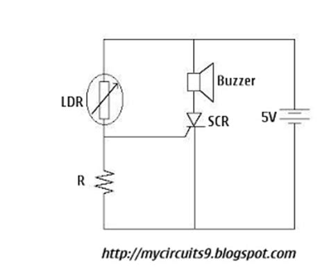 laser light detector circuit light sensor alarm circuit my circuits 9
