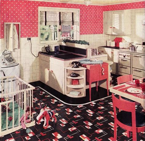 1950s kitchen furniture transition from arts crafts to deco