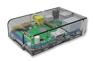 Mc Rp001 Clr Raspberry Pi Clear mc rp001 clr multicomp dev board enclosure raspberry pi abs transparent farnell uk