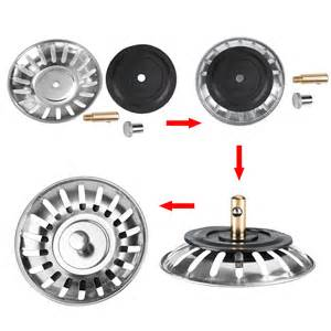 Kitchen Sink Strainer Replacement 2x Kitchen Waste Stainless Steel Sink Strainer Drain Stopper Filter Basket Ebay
