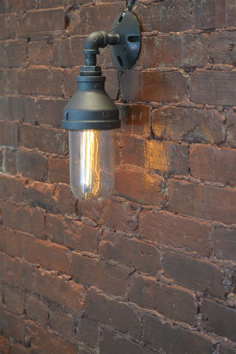 Industrial Wall Sconce Lighting Steunk Glass Sconce Steunk Sconce Industrial Wall