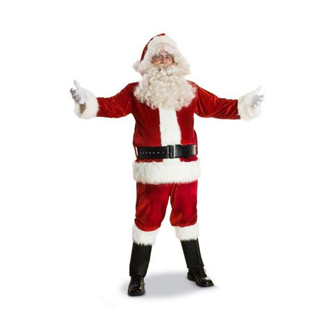 shop large red polyester santa claus suit at lowes com