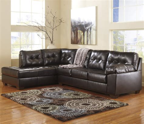 Faux Leather Sectional Sofa by Faux Leather Sectional W Left Chaise Tufting By