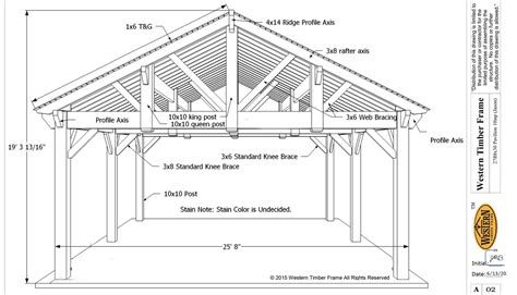 plans perspectives and elevations of timber pavilions 3rd gable pavilion w privacy wall fireplace western