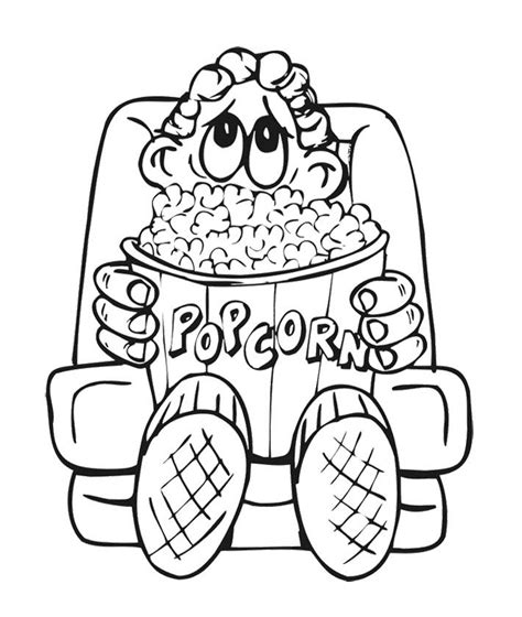 popcorn coloring pages preschool the boy and big popcorn coloring page kids coloring