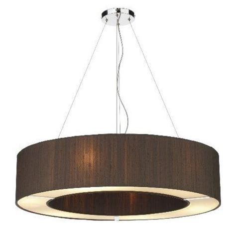 Circular Pendant Light with Circular Nutmeg Brown Silk Ceiling Pendant Light With Diffuser