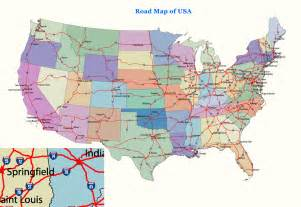 map of state of usa us map