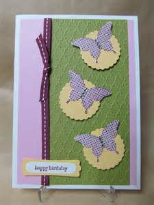 savvy handmade cards elegant butterfly birthday card